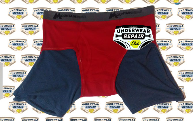 red briefs with boxer thighs attached