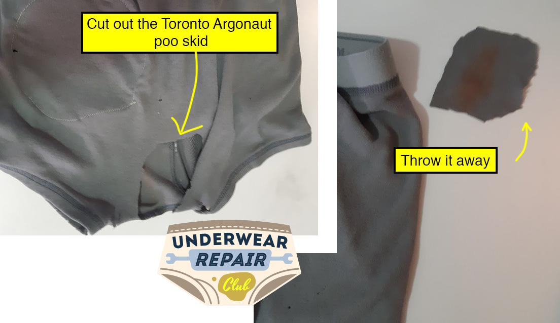 Cut out the Toronto Argonauts poop stain